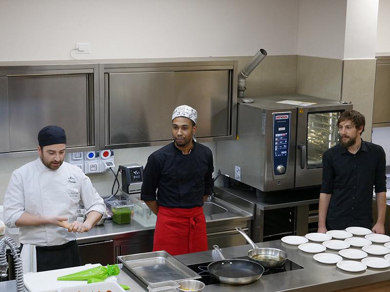Staff del ristorante La DegOsteria