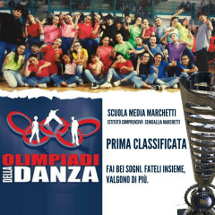 Ragazzi della scuola Marchetti di Senigallia vincitori alle Olimpiadi della Danza 2019