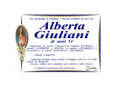 Necrologio Alberta Giuliani
