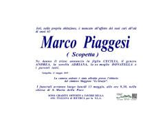 Necrologio Marco Piaggesi