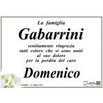 I ringraziamenti della famiglia Gabarrini