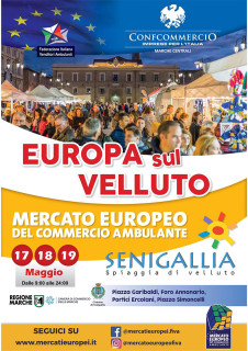 Mercato Europeo Ambulante 2019 a Senigallia - locandina