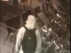 Il ladro ripreso dalle telecamere