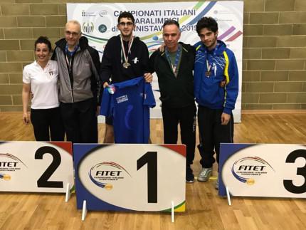 Tennistavolo: Mirko Bruschiha vinto a Verona il titolo assoluto della classe VII del CIP (Paraolimpici)