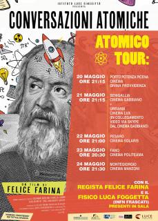 Tour Atomico: incontri e proiezione di Conversazioni Atomiche - locandina