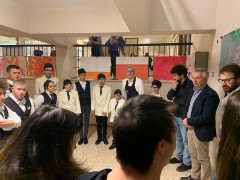 Apertura mostra Liberi con il colore al Liceo Perticari
