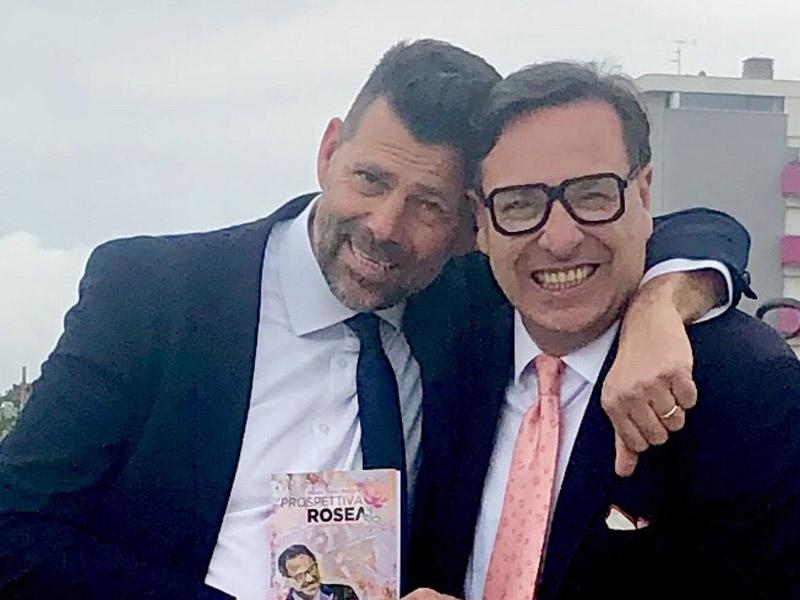 Maurizio Mangialardi con il dottor Mauro Mario Mariani