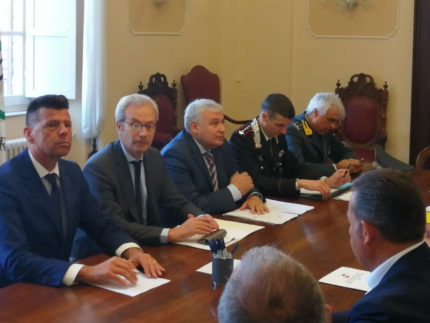 Riunione sicurezza a Senigallia