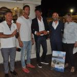Torneo tennis gioielleria Pettinari 2019 - Marco Pettinari con maestri Quaranta e Oliva, sindaco Mangialardi, vicesindaco Memè