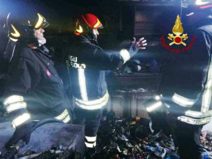 incendio in un appartamento a Montemarciano
