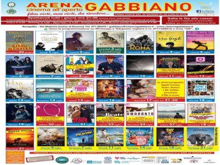 Locandina dell'edizione 2019 dell'Arena Gabbiano
