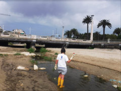 Il prelievo di Legambiente dalle acque dell'Albula a San Benedetto del Tronto