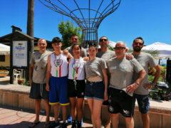 I campioni italiani di gym boxe Sara Cuicchi e Nicolò Galli dell'Accademia Pugilistica Senigalliese