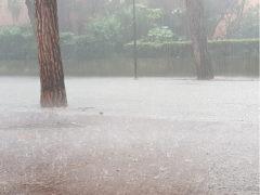 Allagamenti per la pioggia in viale A. Garibaldi