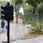 Allagamenti per la pioggia, chiusa via Mercantini