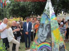 Inaugurazione del monumento a John Lennon a Senigallia