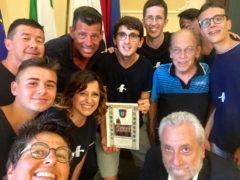 Il Sindaco riceve il tennistavolo e premia Mirko Bruschi