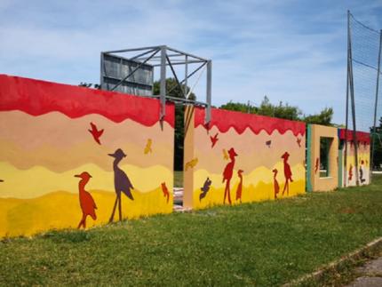 Pittura murale realizzati ai Giardini Pubblici di via Tolomeo