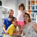 Leonardo Bacoccoli, titolare di Zona Immagine, con la sua famiglia