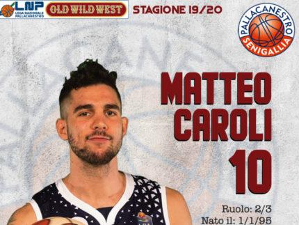 Matteo Caroli è un nuovo giocatore della Goldengas Senigallia