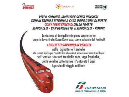 Treni notturni speciali per il Summer Jamboree 2019