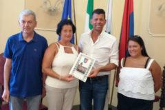 Mangialardi ha ricevuto in Comune i coniugi Patrizio Pergolani e Irene Urbanelli