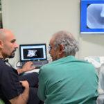 Stefano Galassi al lavoro nella clinica Dè Este