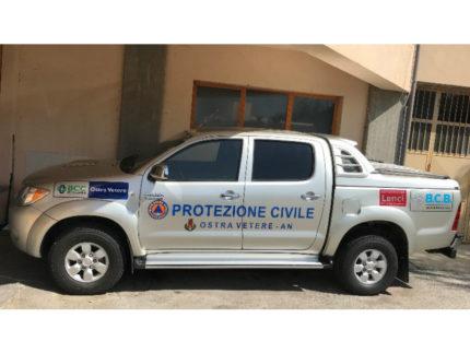 Nuovo mezzo in dotazione alla protezione civile di Ostra Vetere.