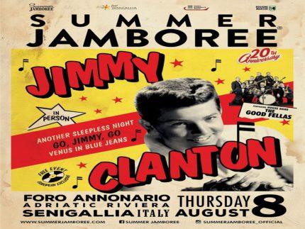 Locandina relativa all'esibizione di Jimmy Clanton