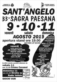 Sagra Paesana 2019 a Sant'Angelo di Senigallia - locandina