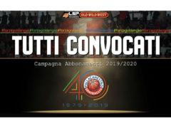 Campagna abbonamenti Pallacanestro 2019/2020