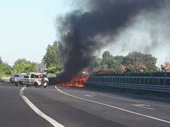 Incidente in complanare a Senigallia - Foto da Facebook