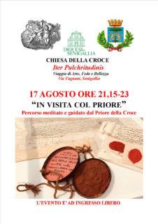 """""""In visita col Priore"""" alla Chiesa della Croce- locandina"""