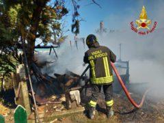 Incendio in via Berardinelli
