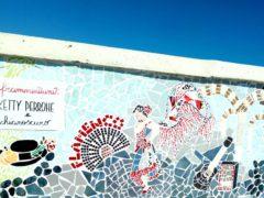 Mosaico raffigurante una ballerina di flamenco a Marotta