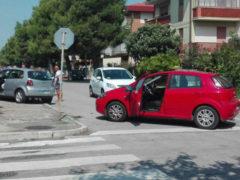 Incidente stradale alla Cesanella