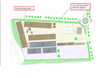 Progetto impianto gestione rifiuti a Cesano di Senigallia - aree emissione odori e polveri