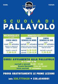Scuola di pallavolo della US - Corsi 2019/2020 a Senigallia - locandina