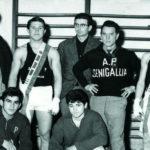 Boxe Senigallia: in alto Buffarini, Mancinelli, Gesta, Mazzanti, Mencarelli. In basso Giacomini, Bigelli