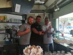 Konstantin, Michele e Roberto, gestori dello Skizzo Bar