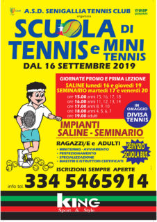 Senigallia Tennis Club - Scuola di tennis e mini tennis 2019/2020