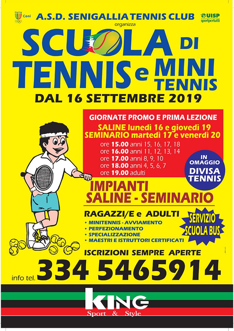 Senigallia Tennis Club - Scuola di tennis e mini tennis 2019/2020