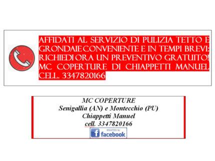 MC Coperture di Chiappetti Manuel - Senigallia e Montecchio - Pulizia tetto e grondaie