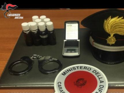 I Carabinieri lo arrestano e trovano le piante di marijuana