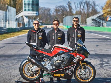 Simone Saltarelli (a destra) alla 24 Ore di Le Mans