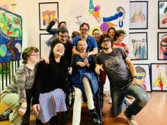 Artisti e staff dell'associazione Lapsus