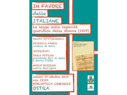 """""""in difesa delle donne italiane"""" del prof. marco severini"""