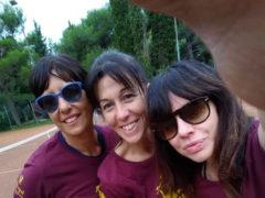 a squadra femminile con Elena Viezzoli (Capitano) Cristina Calli e Monica Vaccarini.