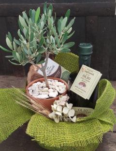 Olio extravergine di oliva del Frantoio Lugliaroli di Roncitelli di Senigallia in confezione regalo