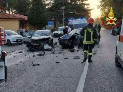 Incidente a Corinaldo tra tre auto, tre i feriti